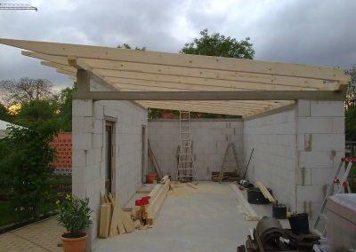 Neubau eines Schopfes bzw. einer Garage